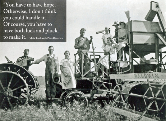 Clyde Tombaugh down on the farm